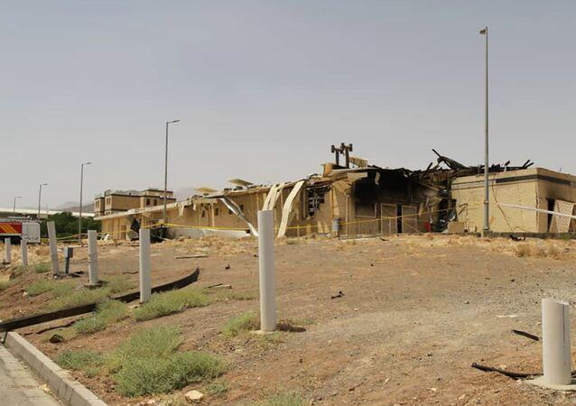 Edifício danificado por incêndio nas instalações de enriquecimento de urânio de Natanz, cerca de 322 quilômetros ao sul de Teerã, Irã, 2 de julho de 2020