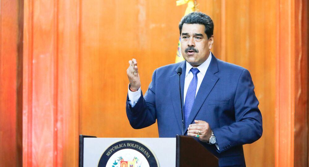 Presidente venezuelano Nicolás Maduro durante discurso em Caracas, capital da Venezuela (arquivo)
