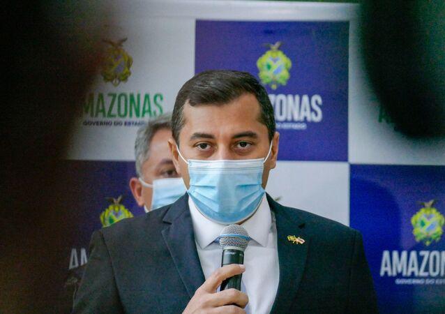 Governador do Amazonas, Wilson Lima, anuncia fechamento de bares e balneários por 30 dias, em Manaus, 24 de setembro de 2020