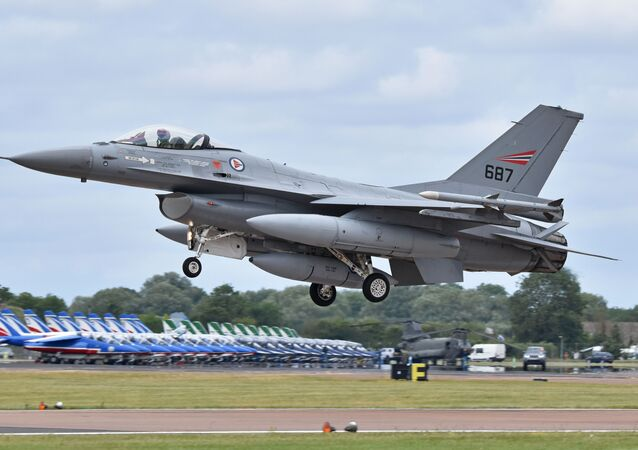 F-16 norueguês (imagem referencial)