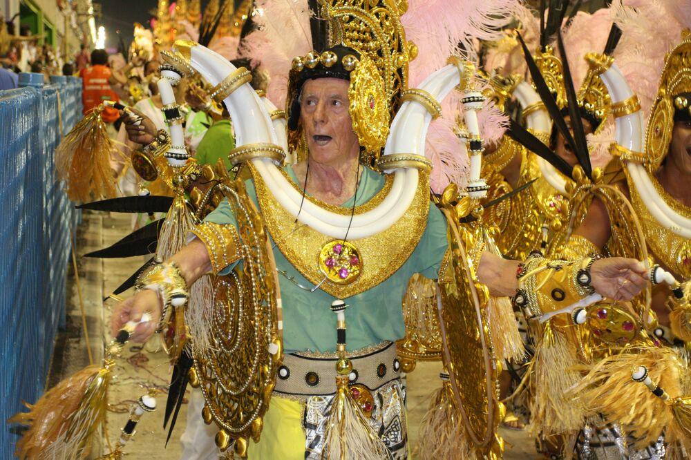 Integrante da velha guarda do Carnaval do Rio de Janeiro, 2009