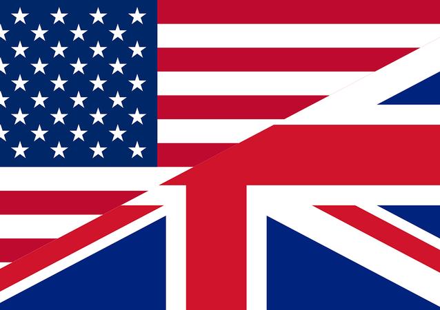 Bandeiras dos EUA e do Reino Unido (imagem referencial)