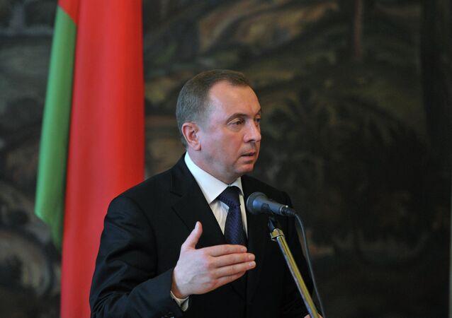 Vladmir Makei, ministro das Relações Exteriores da Bielorrússia (arquivo)