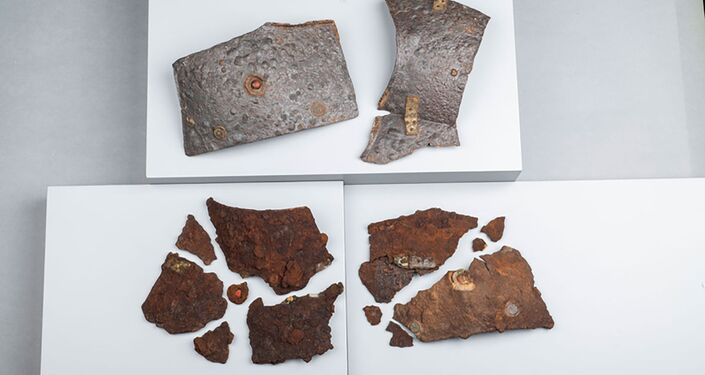 Armadura romana descoberta em Kalkriese