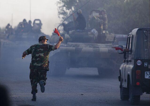 Mobilização de tanques do Exército do Azerbaijão