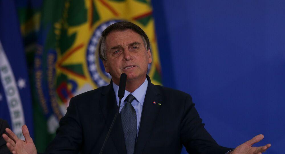 Presidente Jair Bolsonaro durante evento em Brasília, 16 de setembro de 2020