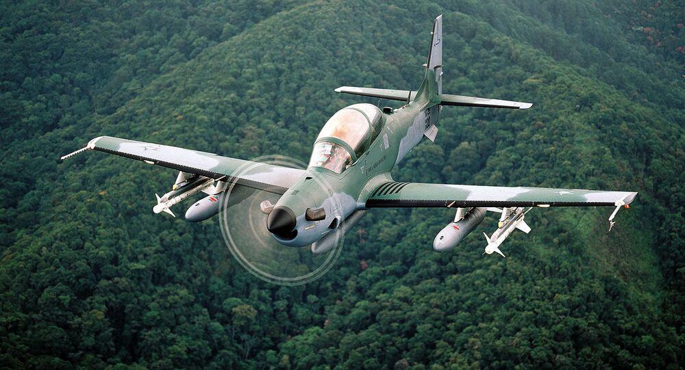 Avião de ataque leve Super Tucano da FAB