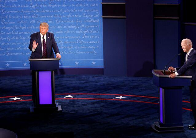 Donald Trump e Joe Biden participam de primeiro debate das eleições dos EUA de 2020