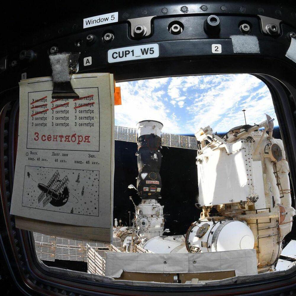 Nave não tripulada Progress acoplada à Estação Espacial Internacional