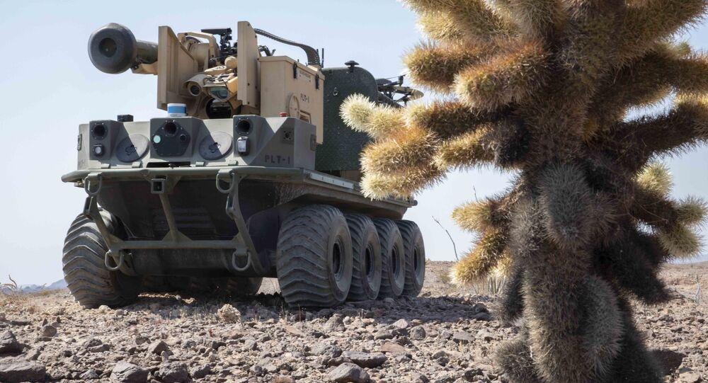 Teste do robô Origin do Exército dos EUA