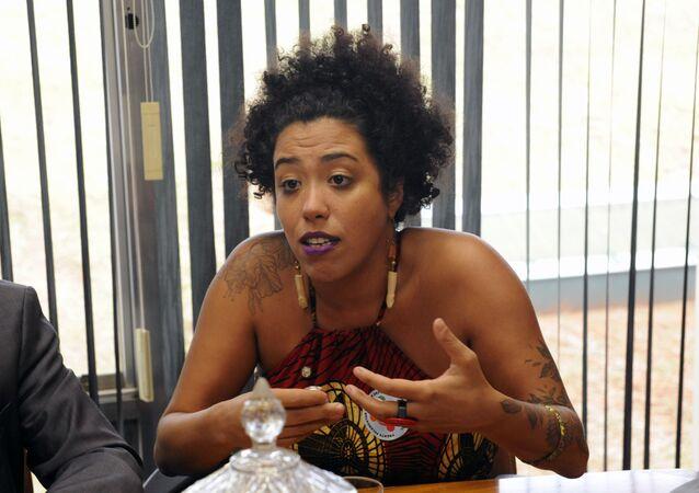 Deputada Talíria Petrone (PSOL-RJ) participa de reunião na Câmara dos Deputados