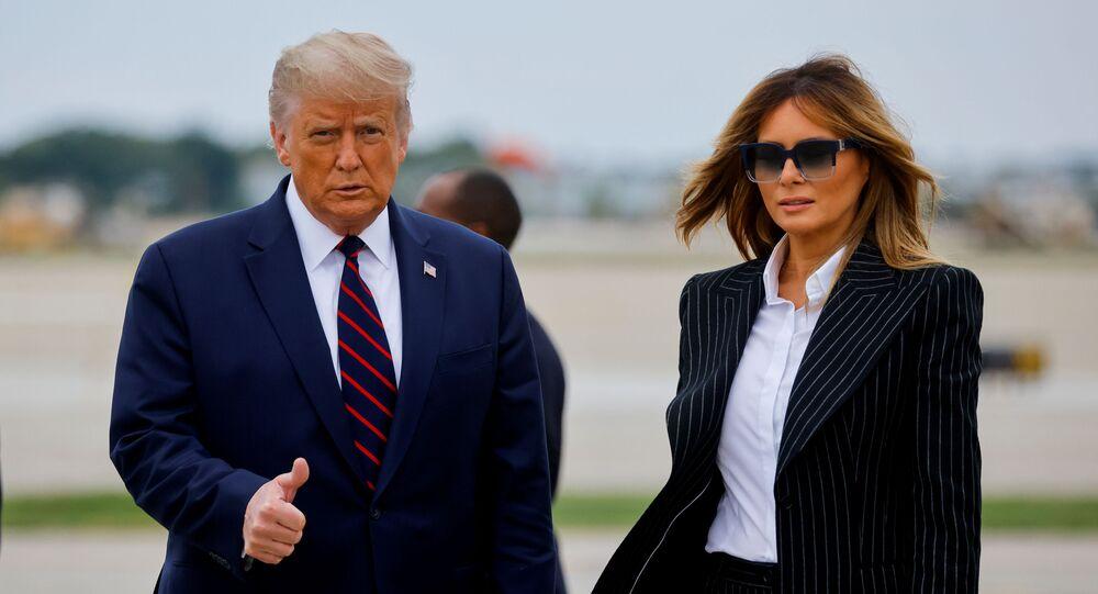 Presidente dos EUA, Donald Trump, e a primeira-dama, Melania Trump