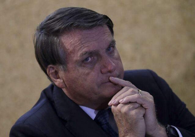 Presidente do Brasil, Jair Bolsonaro, durante cerimônia no Ministério de Minas e Energia, Brasília, 28 de setembro de 2020