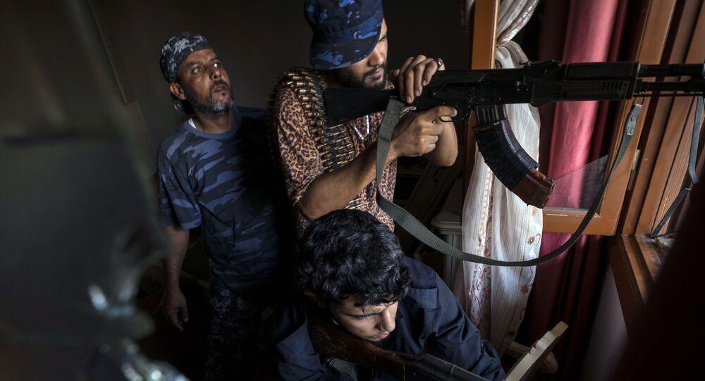 Mercenários sírios na cidade líbia de Trípoli