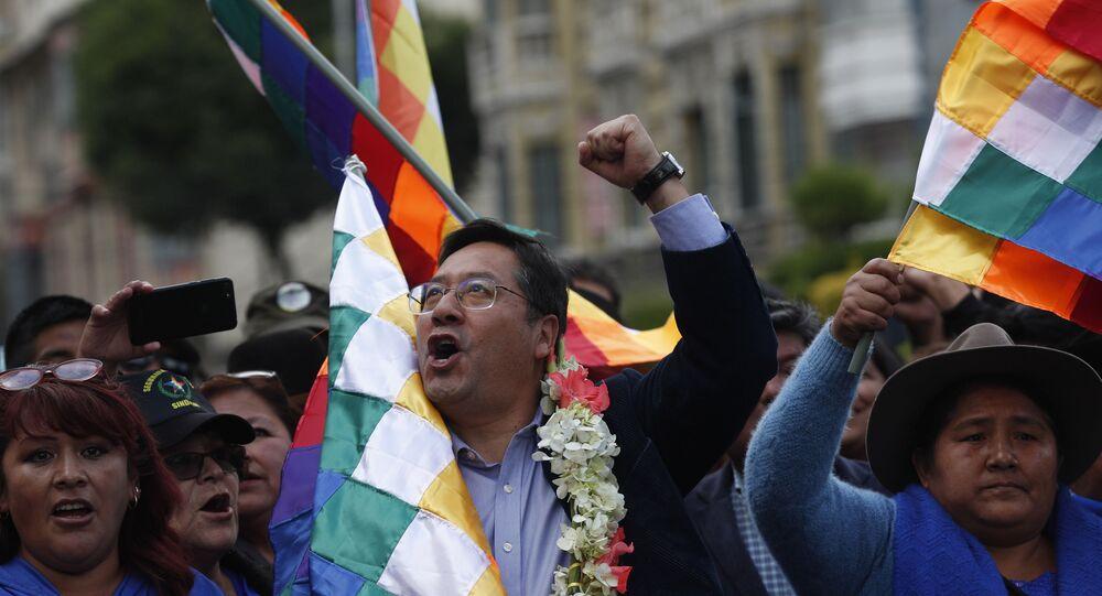 Luis Arce, candidato a presidente nas eleições bolivianas pelo MAS, partido de Evo Morales