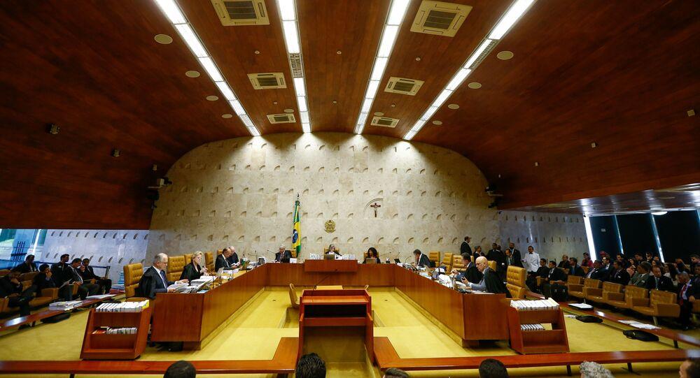 Sessão plenária no STF (Superior Tribunal Federal), em Brasília