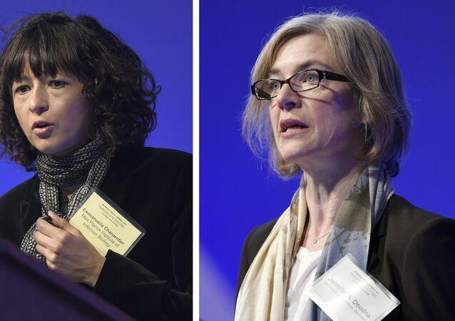 Cientistas Emmanuelle Charpentier e Jennifer Doudna, ganhadoras do Prêmio Nobel da Química em 2020