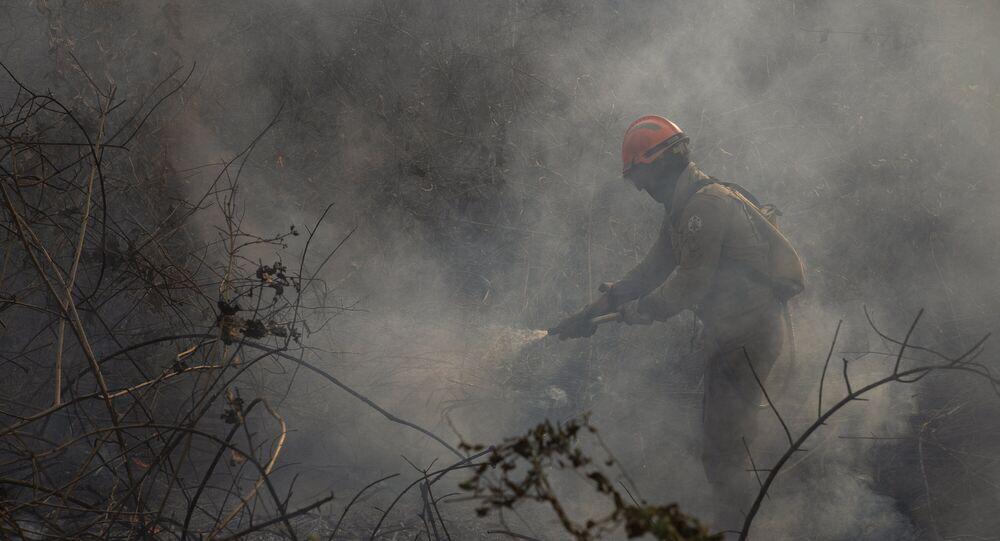 Fogo consome vegetação na maior área inundada do mundo, o Pantanal, que sofre com pior seca dos últimos 50 anos e as queimadas que devastam parte da flora e fauna local.