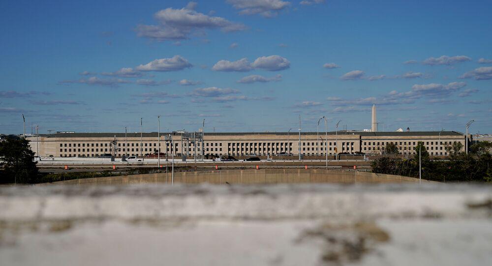 Prédio do Pentágono em Arlington, Virgínia, EUA, 8 de outubro de 2020
