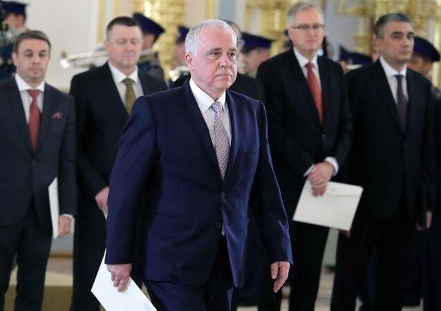 Entrega de credenciais do embaixador búlgaro em Moscou, Atanas Krystin, ao presidente russo Vladimir Putin (foto de arquivo)