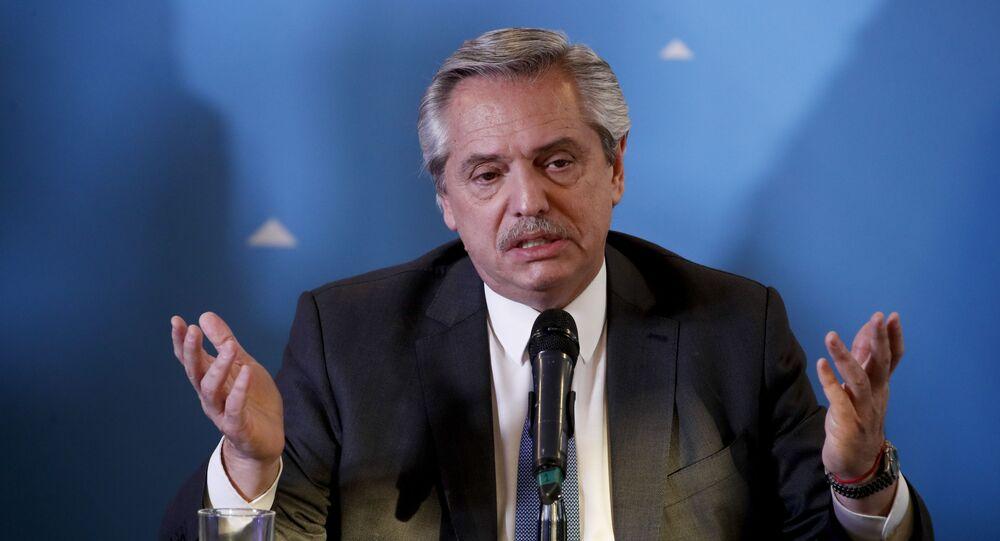 Em Buenos Aires, o então presidente eleito Alberto Fernández apresenta sua equipe de governo, em 6 de dezembro de 2019