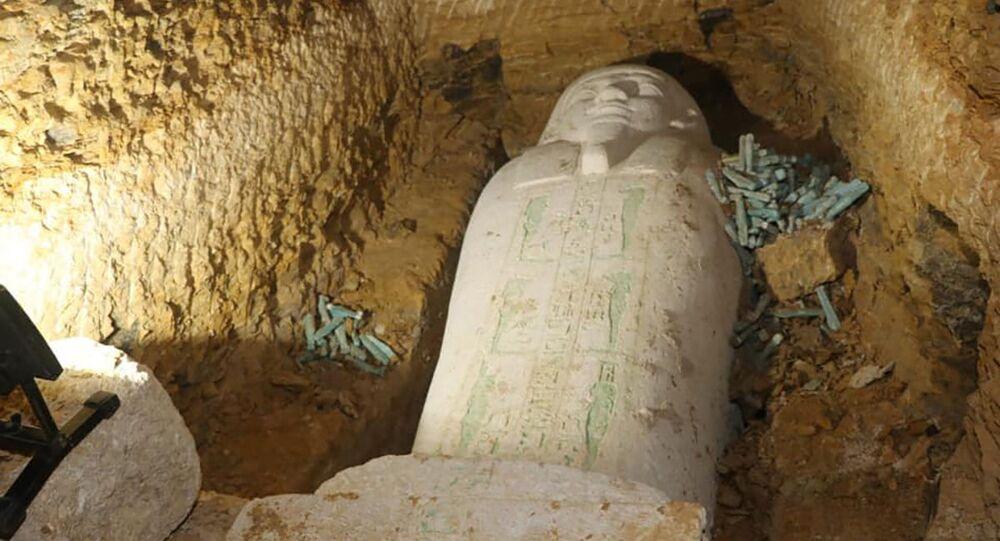 Sarcófago recém-descoberto no Egito
