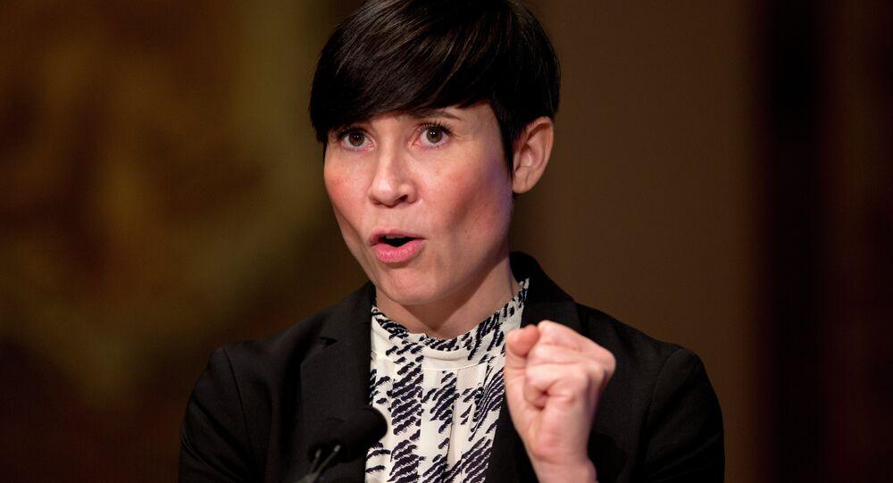 A ministra das Relações Exteriores da Noruega, Ine Marie Eriksen Soreide