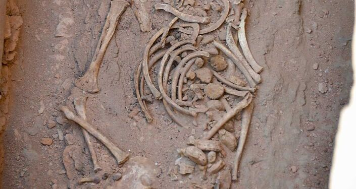 Esqueletos humanos descobertos em túmulo no norte do Cazaquistão