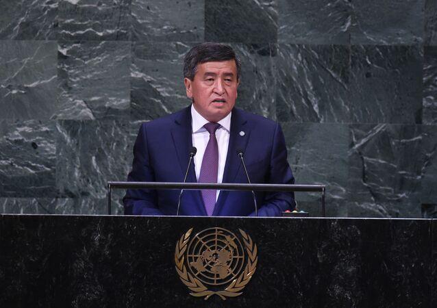 Presidente do Quirguistão Sooronbai Zheenbekov