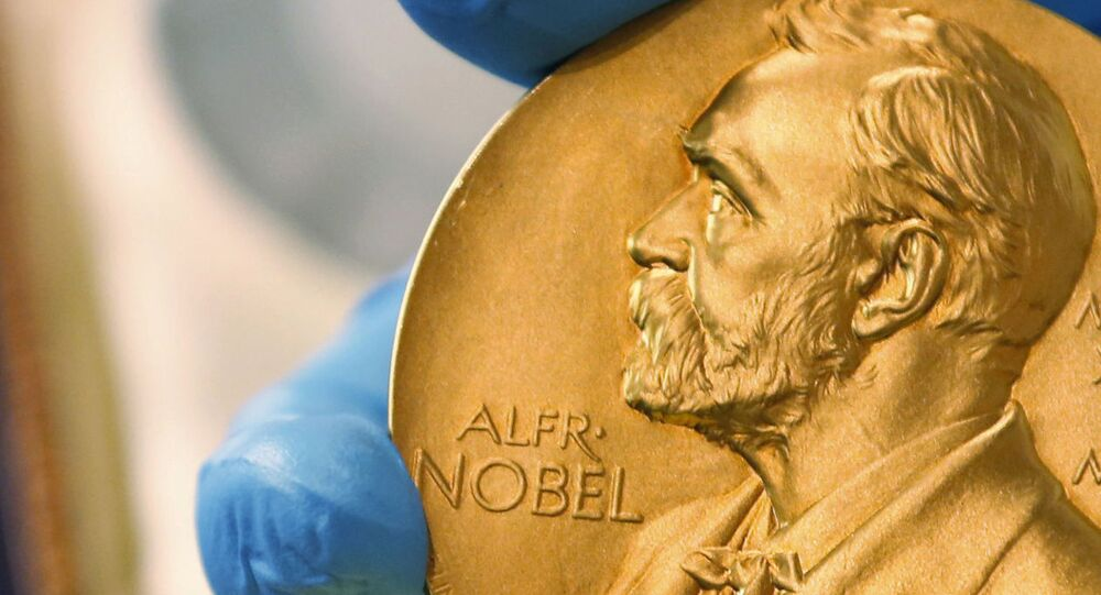 Medalha do prêmio Nobel da Paz concedida ao Programa Mundial de Alimentos (PMA), em 9 de outubro de 2020