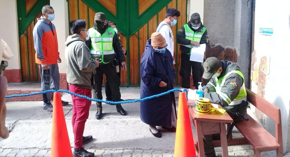 Votação nas eleições presidenciais da Bolívia