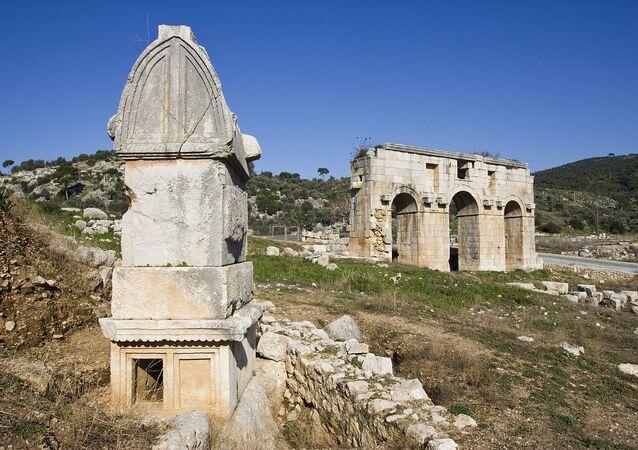 Ruínas da antiga cidade de Patara