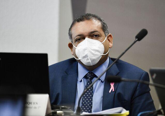 Sabatina do juiz federal Kassio Nunes Marques, indicado ao Supremo Tribunal Federal (STF) por Jair Bolsonaro, na Comissão de Constituição e Justiça (CCJ).