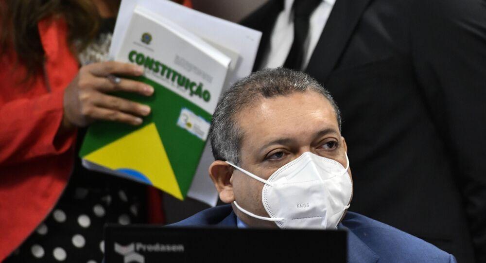 Sabatina do juiz federal Kassio Nunes Marques, indicado ao Supremo Tribunal Federal (STF) por Jair Bolsonaro, na Comissão de Constituição e Justiça (CCJ), em Brasília