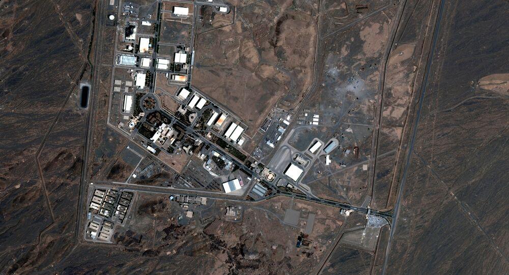 Imagem de satélite mostra a central nuclear de Natanz, no Irã, após incêndio (arquivo)