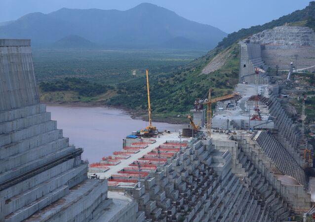 Construção de represa na Etiópia (imagem de arquivo)