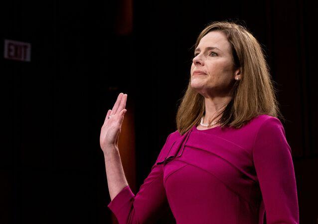 Juíza Amy Coney Barrett nomeada para a Suprema Corte dos EUA.