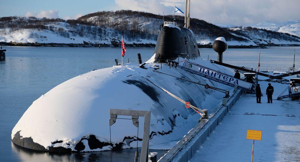 Submarinos Shchuka-B do projeto 971 na base em Gadzhievo, região de Murmansk, Rússia