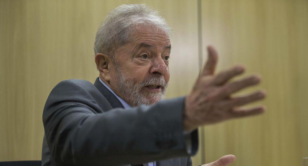 Ex-presidente Luiz Inácio Lula da Silva concede entrevista