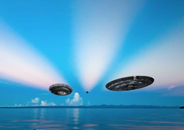 OVNIs na Terra (imagem referencial)