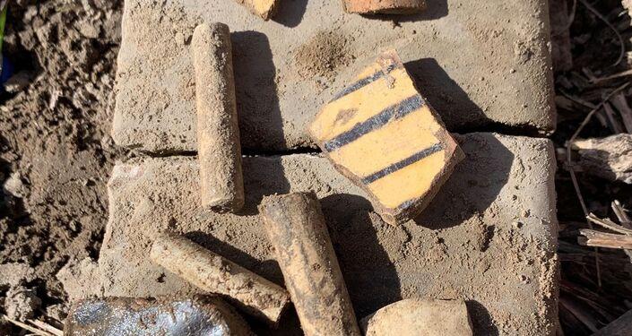 Objetos arqueológicos encontrados em Maryland, EUA