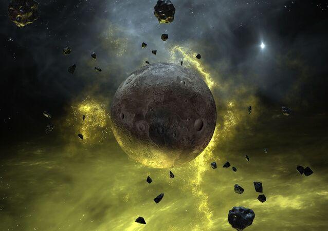 Planeta à deriva (imagem referencial)