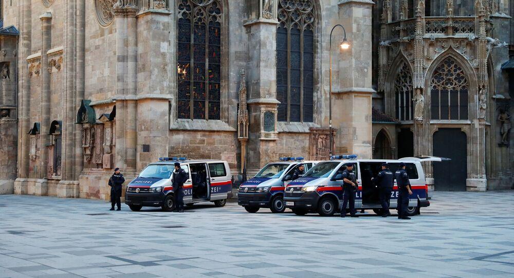 Policiais em Viena, Áustria