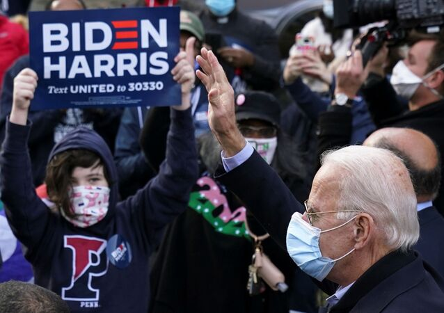 Candidato democrata à presidência dos EUA, Joe Biden