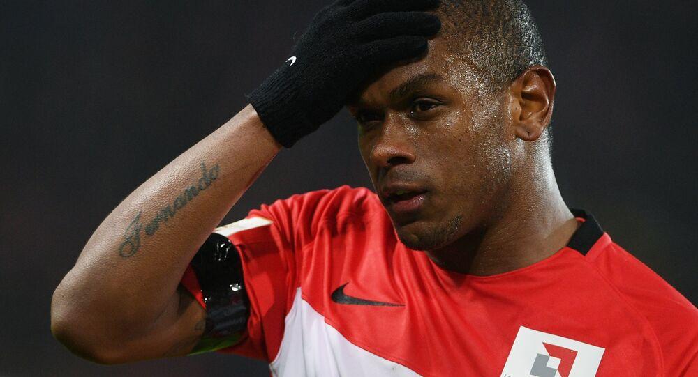 O jogador Fernando, durante sua passagem pelo time russo Spartak (foto de arquivo)