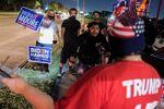 Eleitores de Trump e Biden se encontram em Houston, no Texas