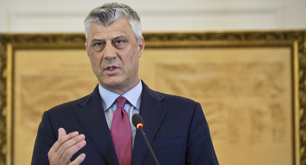 Ex-presidente do Kosovo Hashim Thaci (foto de arquivo)