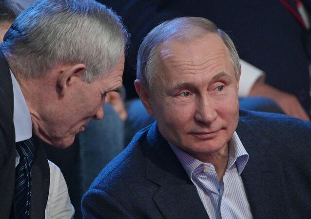 Presidente russo, Vladimir Putin, durante visita de trabalho a Sochi, na Rússia