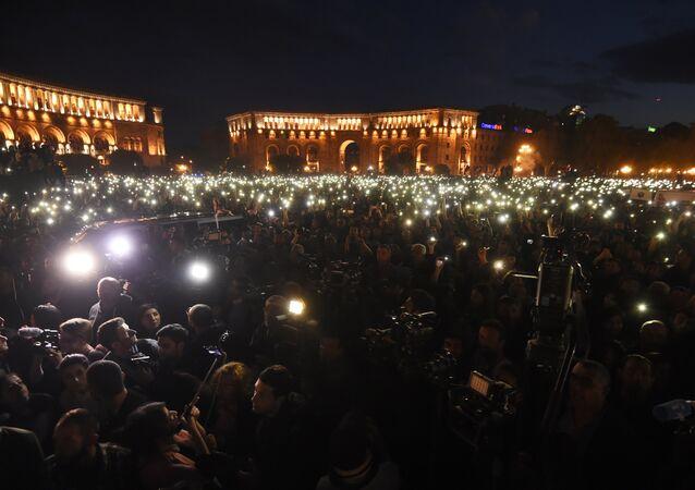 Protestos em Erevan, Armênia