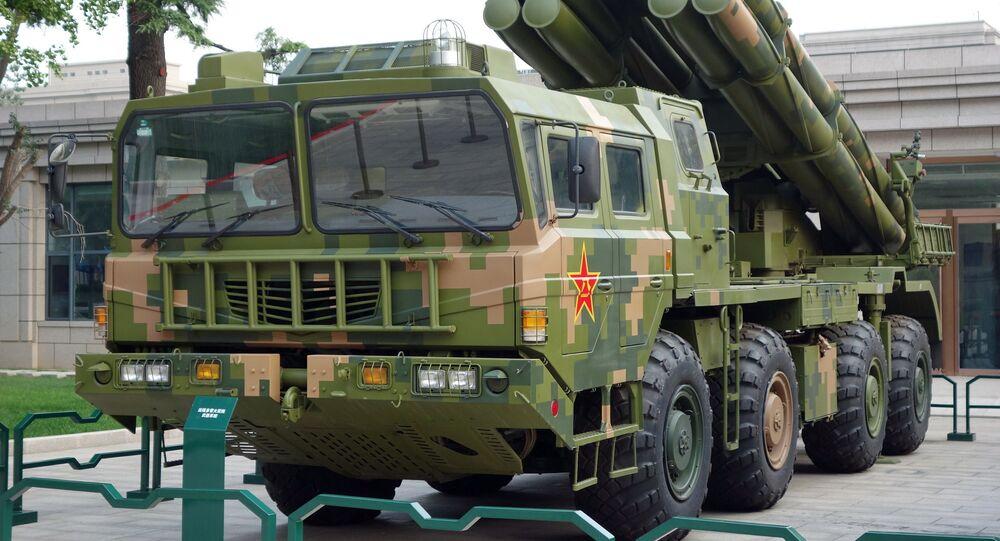 Lançador múltiplo de foguetes chinês PHL-03